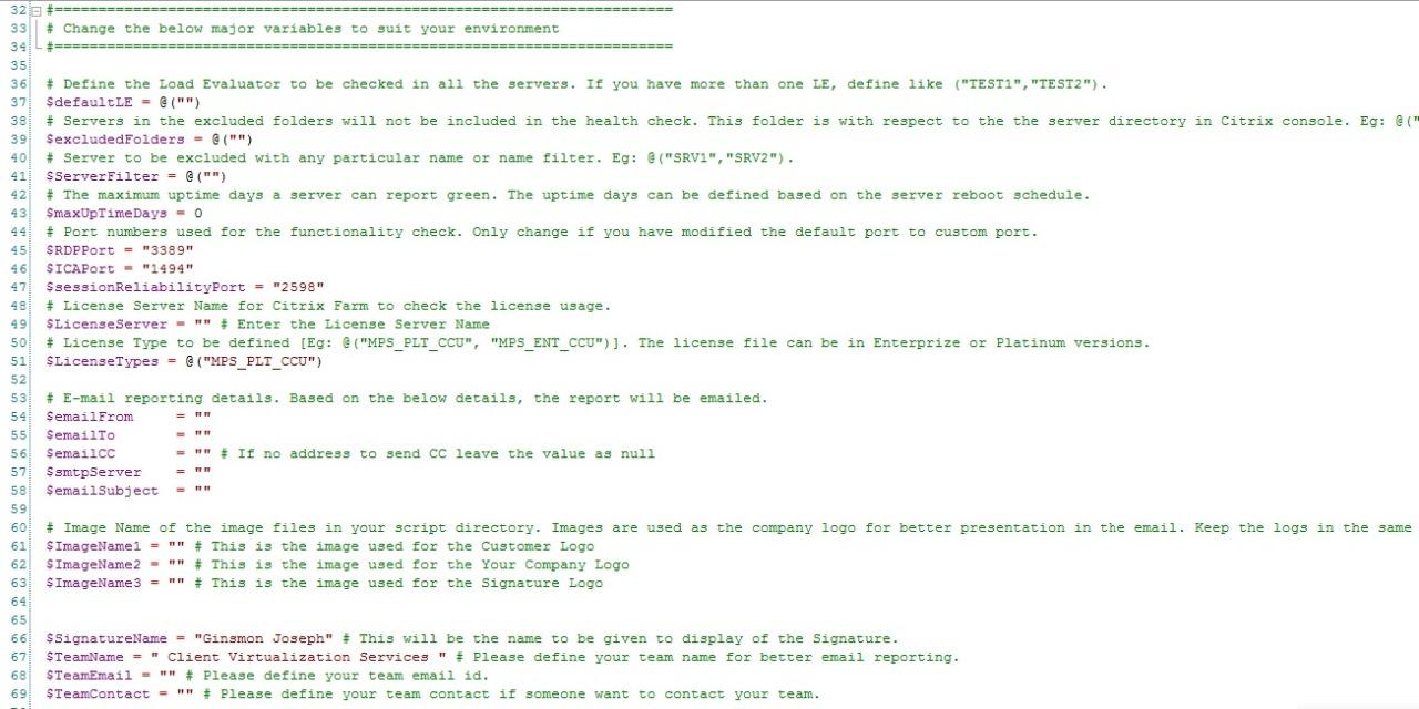 Citrix XenApp Server Monitoring Script / Citrix Server